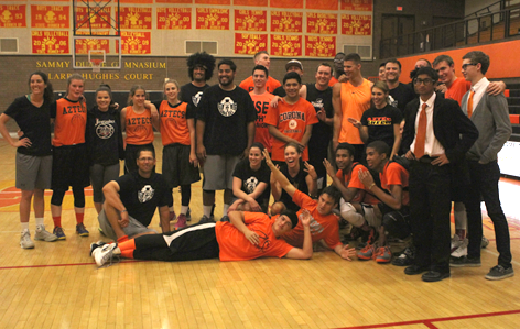 Staff vs. student basketball game