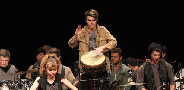Spring percussion concert impresses audience