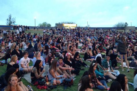The crowd waits for the concert to begin. Lana del Ray performed May 14.
