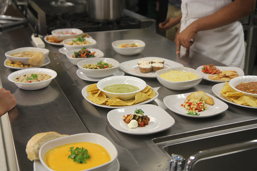 The culinary arts students created delicious dishes from vegetables. The students had a taste testing Mon., Aug. 31.