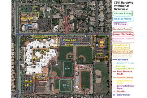 Marching band invite and homecoming dance cause parking conflict