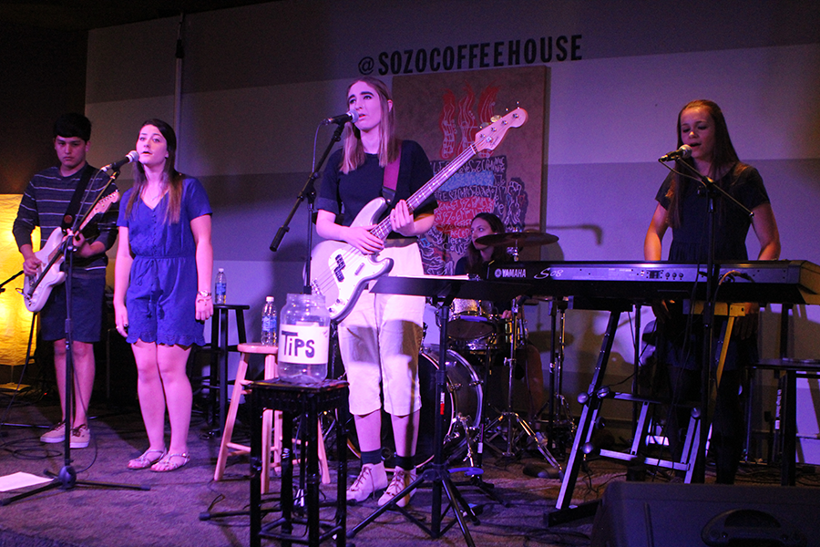 Vice Versa performs a song at Sozo Coffee House. The band was formed just over two years ago and has been performing alternative music at its gigs.