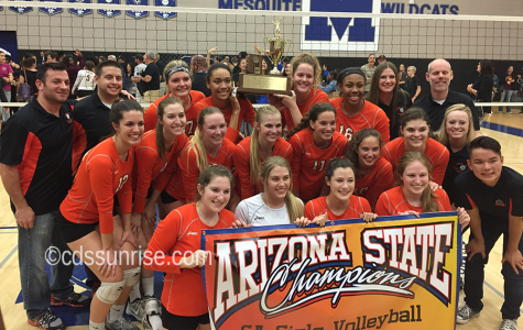 Volleyball sweeps Mountain Pointe to claim first title since 1991